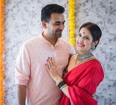 Zaheer-Sagarika   Wedding #blog INDIAN BRIDE & GROOM FASHION FROM THE ZAHEER KHAN-SAGARIKA GHATGE WEDDING - https://strandofsilk.com/indian-fashion-blog/indian-weddings/indian-bride-and-groom-fashion-zaheer-khan-sagarika-ghatge