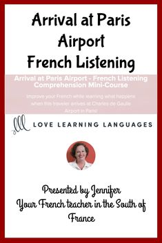 Improve your French while learning what happens when this traveler arrives at Charles de Gaulle Airport in Paris! Learn French Online, Paris Airport, Learning Cards, French Teacher, Listening Skills, Comprehension Questions, Vocabulary, Improve Yourself, Language