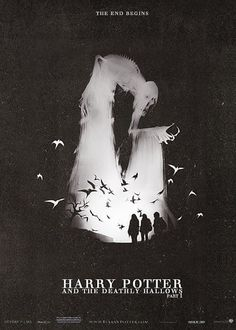 Harry Potter and the Deathly Hallows: Part 1 poster Why have I never seen this poster? Harry Potter Poster, Mundo Harry Potter, Harry James Potter, Harry Potter World, Hogwarts, Slytherin, Film Serie, Deathly Hallows, Hermione Granger