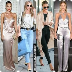 #Satin Queen #RosieHuntingtonwhiteley#gorgeous #satindress #satintop #highheels #supermodel #model #fashion #style #celebrity #hollywood #star #beautiful #CropTop #accessories #headband #gown #dress #hautecouture2016  #pretty#stylish #ootd #outfit #heels... - Celebrity Fashion