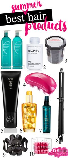 Top 10 Summer Hair Products