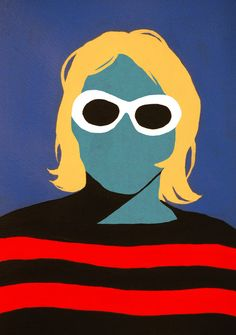 The Faceless collection, featuring a range of simple, colourful works by Spanish painter, designer and photographer Coco Dávez, is inspired by her idols. Kurt Cobain Art, Kurt Cobain Painting, Arte Hippy, Nirvana Art, Arte Grunge, Typographie Inspiration, Rock Poster, Pop Art Posters, Arte Pop