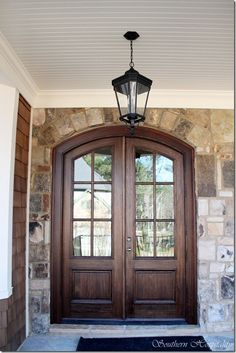 Gorgeous wood double doors by Southern Hospitality