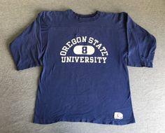 Champion 70s Jersey Shirt Vtg Sweatshirt OSU Oregon State Beavers Football Men L #Champion #OregonStateBeavers