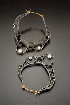 earrings by Vina Rust, a metalsmith based in Seattle