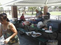 it was the acts thrift store picnic. we came, we saw, we ate, we Lived. see god was watching over us.