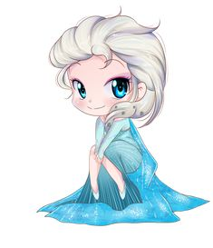 Elsa frozen chibi by keitenstudio