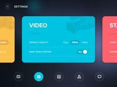 Dribbble - Settings card shared via https://chrome.google.com/webstore/detail/design-hunt/ilfjbjodkleebapojmdfeegaccmcjmkd?ref=pinterest