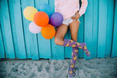 Everyday is a happy celebration. @kalvisuals @priscilla_peralta #HappySocks #HappinessEverywhere