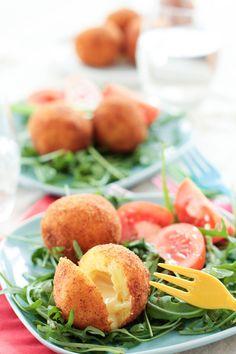Cromesquis de pommes de terre au Munster fermier