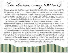 Sample prayer card for praying God's word for your children.