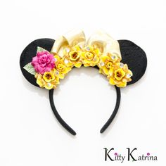 Belle Mouse Ears Headband, Belle Dress, Beauty and the Beast Dress, Beauty and the Beast Party, Princess Belle, Disney Headband, Disneyland