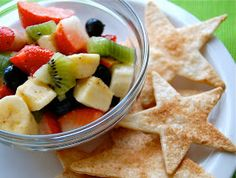 Chef Mommy: Fresh Fruit Salsa with Cinnamon Crisps