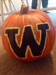 Another UW inspired pumpkin!