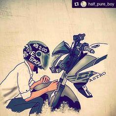 "mr.wolfrider (@ns_the_wolfking_) added a photo to their Instagram account: ""@half_pure_boy #200ns #let_wolves_play #ns200😍 #ns #pulsarmaniac #pulsarns200 #pulsar #bajaj…"" Cute Black Wallpaper, Hipster Wallpaper, Cute Emoji Wallpaper, Iphone Wallpaper, Easy Cartoon Drawings, Anime Couples Drawings, Couple Drawings, Bajaj Motos, Camera Cartoon"