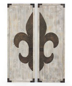 Look what I found on #zulily! Vintage White Fleur-de-Lis Wall Plaques - Set of Two #zulilyfinds