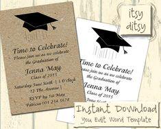 Graduation Invitation Graduation Party Invite Instant Download