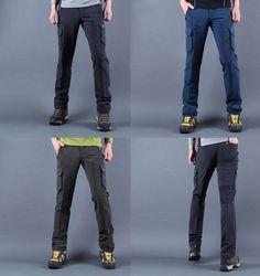 walking Men's Cycling Hiking Trekking cargo Pants climbing stretch trousers  #nyfashioncity #OtherCasualTrousers