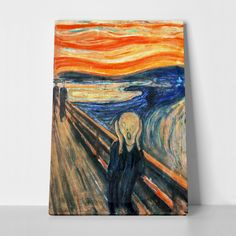 The Scream is the popular name given to each of four versions of a composition, created as both paintings and pastels, by the Expressionist artist Edvard Munch between 1893 and The German title Munch gave these works is Der Schrei der Natur. Le Cri Edvard Munch, El Grito Edvard Munch, Le Cri Munch, Henri Matisse, Caspar David Friedrich, Most Famous Paintings, Popular Paintings, Famous Artwork, Classic Paintings
