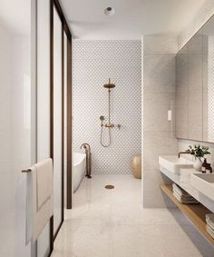 35 Badezimmer Renovierungsideen Home Beautiful, Contemporary Bathroom Designs, Modern Bathroom Design, Bathroom Interior Design, Minimalist Bathroom Design, Minimal Bathroom, Neutral Bathroom, Interior Modern, Interior Minimalista, Small Bathroom