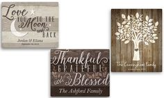 Personalized Planet: Custom Canvas Family Wall Signs from Personalized Planet (Up to 68% Off)