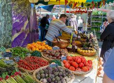 Farmer's Market -- Lourmarin, Provence-Alpes-Cote d'Azur, France. This is such a beautiful village and one of the best marchés I have ever been to.