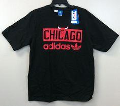 Chicago Bulls Adidas Originals T-Shirts Black Asst Sizes **RARE** NBA $28 Retail #adidasoriginals #ChicagoBulls