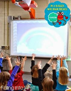 GoNoodle in the classroom. This site is full of FREE brain breaks for K-5 students!! #brainbreaks