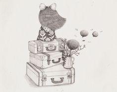 JJLynn(HYO JU PARK)   #pencil #illustrations #girl #JJLynn #journey #vintage