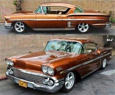"The very popular Camrao A favorite for car collectors. The Muscle Car History Back in the and the American car manufacturers diversified their automobile lines with high performance vehicles which came to be known as ""Muscle Cars. 1958 Chevy Impala, Chevrolet Impala, Impala Car, Chevrolet Bel Air, 1955 Chevrolet, American Classic Cars, American Muscle Cars, Auto Retro, Old School Cars"