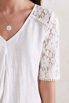 Anthropologie Favorites:: January Tops and Sweaters How To Have Style, Style Me, Lace Tee, Blouses For Women, Ladies Blouses, Modest Fashion, Pretty Outfits, What To Wear, Ideias Fashion