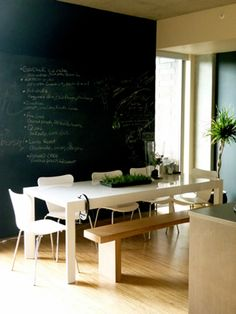 Home Decor Photos: Loft Kitchen with Chalkboard Wall from The Nest