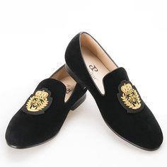 Piergitar 2016 nueva India hecha a mano del bordado de lujo de los hombres zapatos de Los Hombres zapatos de vestir Banquete de terciopelo y de Baile masculinas Más El tamaño de los holgazanes