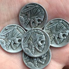 So I found a guy in Ohio that engraves coins into awesome little works of  art. Hobo nickels are a traditional art form that started in the early  1900s when people would engrave nickels with nails, gravers or whatever  they had to work with. They would then use these little works of art to  trade for goods and services making them more valuable than a plain ole  nickel.  As I was looking to find some nickels to use on my rings I came across  Shane Hunter's nickels on eBay. After a few ...