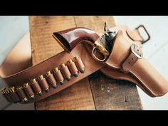 Making a Leather Cowboy Action Fast Draw Holster and Belt Cowboy Holsters, Western Holsters, Gun Holster, Leather Holster, Leather Tooling, Westerns, Cowboy Action Shooting, Leather Tutorial, Leather Working Patterns