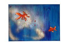 Schilderij Vissen van Annie Warhoofd Beelddesign op DaWanda.com