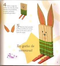 #knutselen met #kinderen tijdens #pasen: konijn van hout