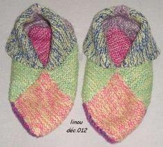 Love Crochet, Crochet Flowers, Knit Crochet, Point Mousse, Knitted Slippers, Frou Frou, Happy Socks, Crochet Accessories, Needlework