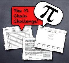 "Pi Day! Competitive Team Activity - ""The Pi Chain Challenge"" 3.14 3/14 - MathyCathy - TeachersPayTeachers.com"