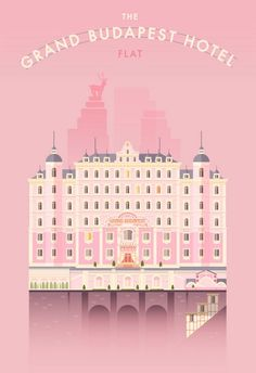 The Grand Budapest Hotel - Flat Illustration by Lorena G | I L L U S T R A T E D | Pinterest