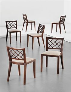 PHILLIPS : UK050113, JEAN ROYÈRE, Set of six 'Croisillon' dining chairs