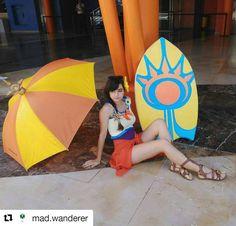 Repost @mad.wanderer ・・・ Para brillar como el sol, primero debes arder como uno. - The radiant down.  #leona #leagueoflegends #cosplayleague #cosplay #cosplayer #props #propmaking #cosplayprops #diy #gamecosplay #sun #summer #lol #convention #leonapoolparty #poolparty #handmade #evafoam #craftfoam #summer #beachootd #surfboard #cute #gamepolis #gamepolis2016