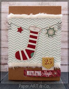 """Weihnachtskarte von Mary-Jane für www.danipeuss.de   My Mind's Eye """"Mistletoe Magic"""""""