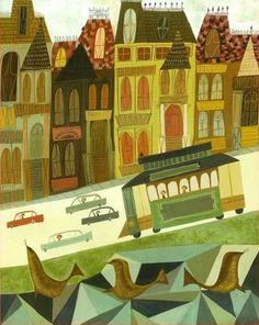 ilustracion estilo años 50 60 _ matte stephens