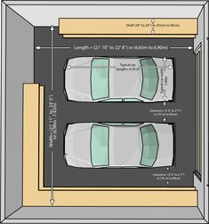 Delightful Garage For Two Cars, Garage Measurements For Two Cars, Garaze Size For Two  Cars