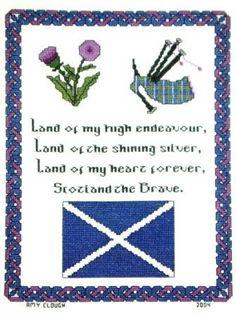 (P) Scotland the Brave cross stitch pattern