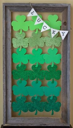 Homemade St. Patrick's Day decorations.