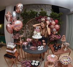 outfit ✨❤️ #fashion #modaparameninas Happy Birthday 18th, 18th Birthday Party, Birthday Goals, Cute Birthday Gift, Gold Party Decorations, Birthday Party Decorations, Birthday Party Desserts, Bday Girl, Its My Bday