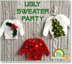 Ugly Sweater Felt Christmas Ornaments #diy
