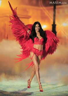 In honor of the 2013 Victoria's Secret Fashion Show tonight...  Victoria's Secret Angel Inspiration: Adriana Lima, and the most beautiful brunette hair we've ever seen! #vsfashionshow